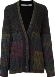 Striped Cardigan Women Nylonalpacavirgin Wool 2, Women's