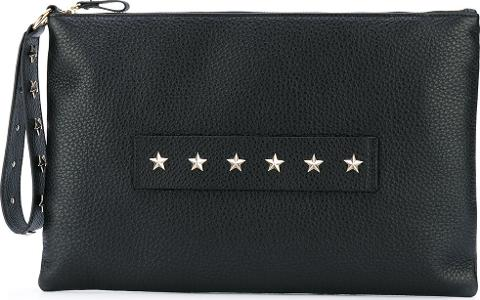 9c32a90edf0c4 red valentino Star Studded Clutch Women Calf Leather One Size