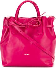 Drawstring Tote Women Calf Leather One Size