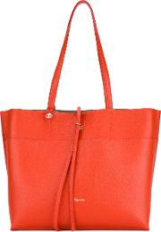 Logo Stamp Tote Women Leather One Size, Red