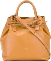 Removable Strap Bucket Bag Women Leather One Size