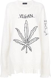Embroidered Distressed Jumper
