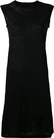Fitted Dress Women Cotton M, Black