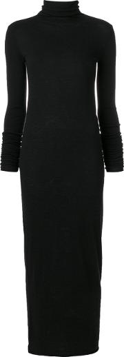 Fitted Knitted Axi Dress Woen Nylonviscoseangorawool