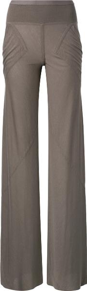Rick Owens Lilies Panelled Pocket Trousers Women Cottonpolyamideviscose 38, Brown