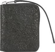 Zipped Wallet Men Calf Leather One Size, Black