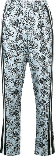 Orchid Print Tapered Trousers