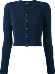 Cropped Cardigan Women Polyesterviscose Xl, Blue
