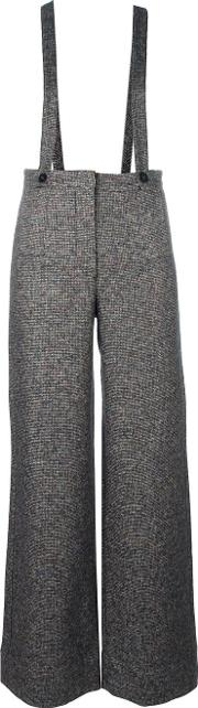 Suspended Flared Trousers Women Silklinenflaxnylonalpaca M, Grey