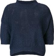 Three Quarter Sleeves Knitted Blouse