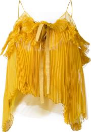 Rochas Pleated Bow Cami Women Silkpolyamide 40, Yelloworange