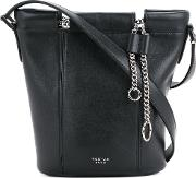 Small Bucket Bag With Chain Women Calf Leather One Size, Black