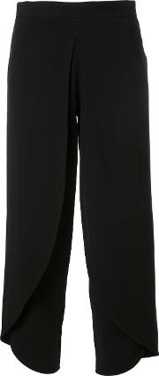 Cropped Trousers Women Spandexelastaneviscoserecycled Polyester S, Women's, Black