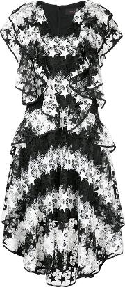 Constellation Lace Dress Women Polyester