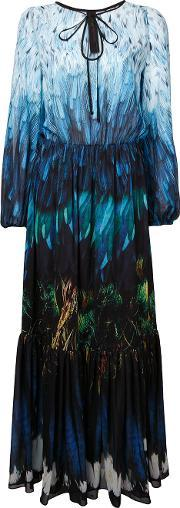 Tail Feather Chiffon Gown Women Polyester 12, Women's, Blue