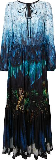 Tail Feather Chiffon Gown Women Polyester 8, Blue