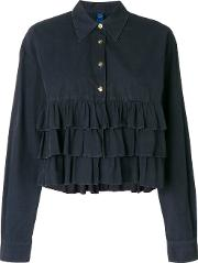 Ruffled Buttoned Blouse