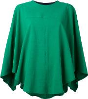 Cape Blouse Women Silkcottonspandexelastaneviscose 36, Green