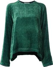 Devore Blouse Women Silkviscose 38, Green