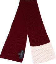 Knit Scarf Men Virgin Wool One Size, Red