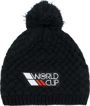 Rossignol World Cup Pompon Beanie Men Acrylicpolyester One Size, Black