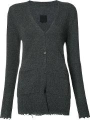 Cashmere 'andre' Distressed Cardigan Women Cashmere S, Grey