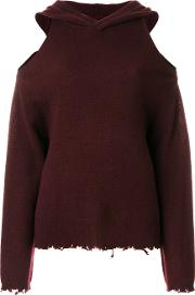 Rta Juno Hooded Jumper Women Cashmere S, Red