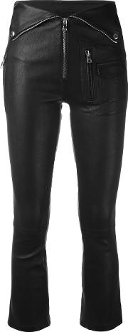 Skinny Trousers Women Lamb Skin 26, Black