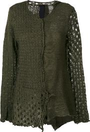 Rundholz Black Label Embroidered Fitted Sweater Women Wool M, Green