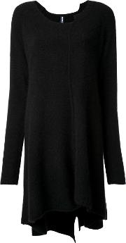 Flared Knit Dress Women Cashmeremerino M, Black