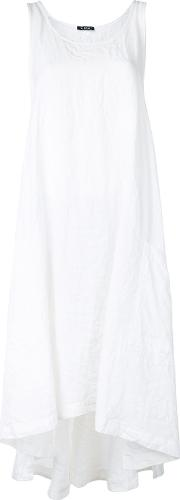 Flared Tank Dress Women Linenflax One Size, White