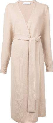 Cashmere Long Belted Cardigan Women Cashmere M, Brown