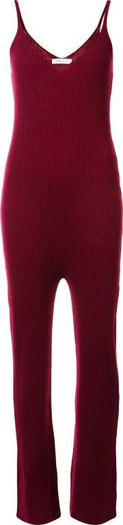 Ribbed Jumpsuit Women Cashmere S, Women's, Red