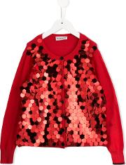 Sequinned Cardigan Kids Cotton 12 Yrs, Red
