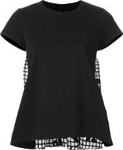 Contrast Flared Blouse