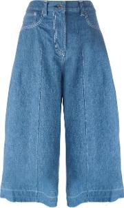 Denim Culottes Women Cotton 2, Blue