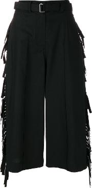 Fringe Cropped Trousers