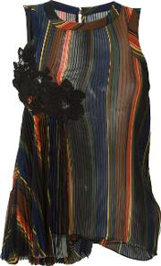 Striped Pleated Camisole