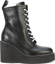 Wedge Heeled Boots Women Leatherrubber