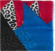 Colour Block Scarf Men Wool One Size