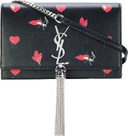 Kate Satchel With Hearts And Bolt Print