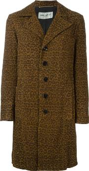 Leopard Print Overcoat Women Cottongoat Skincupro 38, Brown