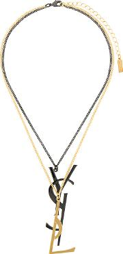 Monogram Deconstructed Pendant Necklace