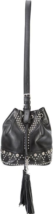 Small Y Studs Bucket Bag Women Leather One Size, Black