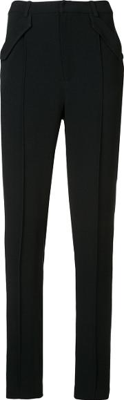 Flap Pocket Trousers Women Acetateviscosesilk 2, Black