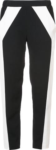 Sally Lapointe Tailored Track Pants Women Nylonspandexelastane 6, Black