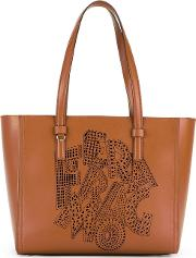Bonnie Tote Women Calf Leather One Size, Women's, Brown