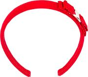 Bow Embroidered Hair Band Women Cotton One Size, Red