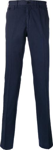 Classic Fit Chino Trousers Men Cotton 48, Blue