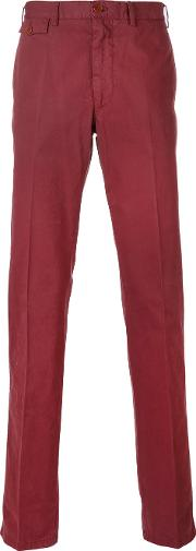 Classic Fit Chino Trousers Men Cotton 48, Red